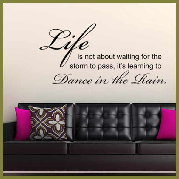 Dance In The Rain ~ Wall Sticker / Decals